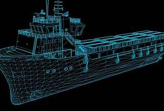 Digital Ship Rendition