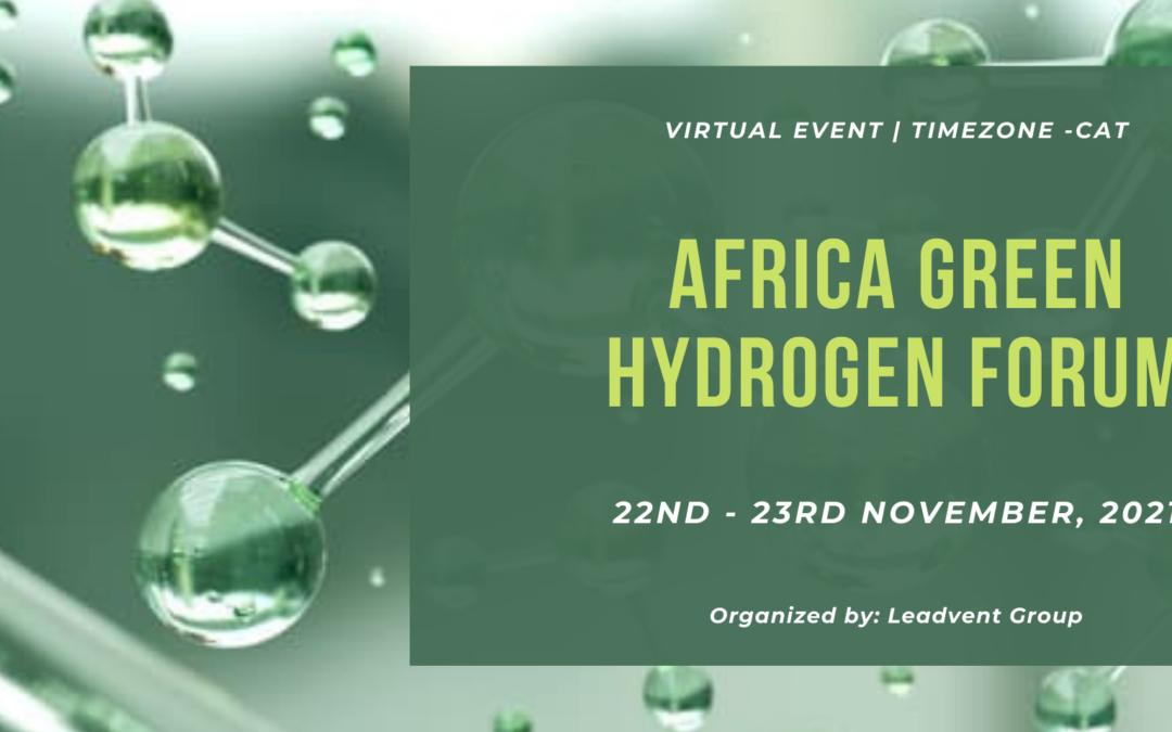 Africa Green Hydrogen Forum | 22nd -23rd November, 2021